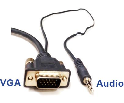 VGA audio cable