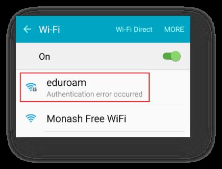 Select eduroam