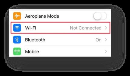 Select Wi-Fi