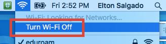Turn wi-fi off
